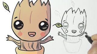 How to draw cute little tree