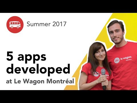 5 apps developed at Le Wagon Montréal - Batch #77