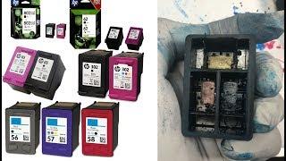 #1 Detailed Steps: Make a Spongeless Refillable HP Cartridge 61 62 63 64 65 66 67 68  Integrated
