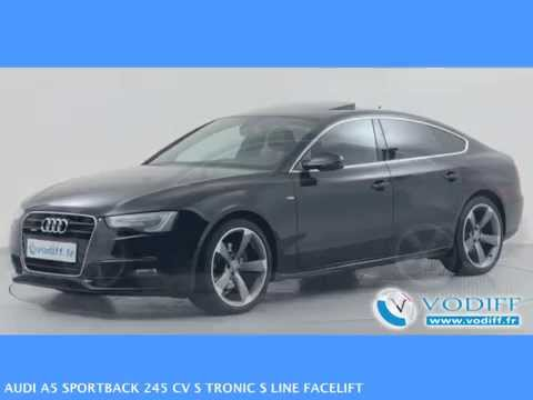 vodiff audi occasion alsace audi a5 sportback 245 cv s tronic s line facelift youtube. Black Bedroom Furniture Sets. Home Design Ideas