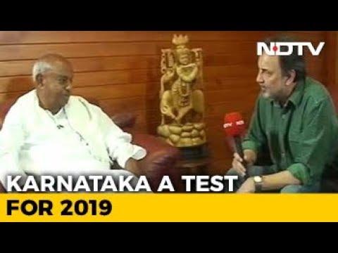 """Will Disown Son If He Backs BJP"": HD Deve Gowda On Karnataka Elections"