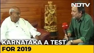 """Will Disown Son If He Backs BJP"": HD Deve Gowda On Karnataka Elections"