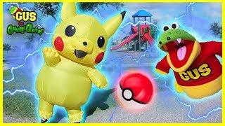 Pokemon Pickachu at the Playground Pretend Play!!!