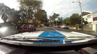 1965 Mustang rally car shakedown