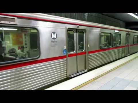 Subway trains at at Union Station, LA