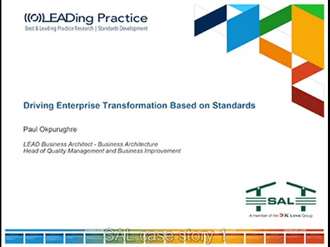 SAL Heavy Lift Case Story: Driving Enterprise Transformation based on Standards