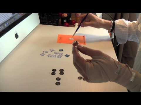 Custom Resin Cuff Links Demo