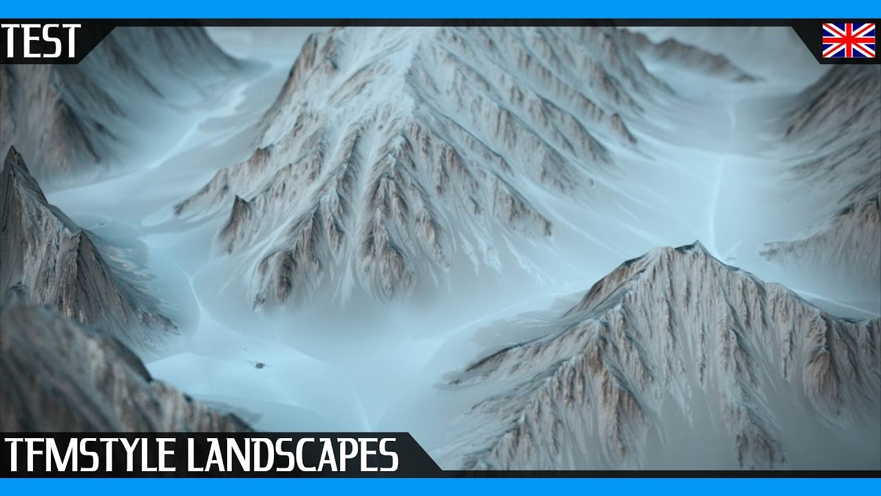 Landscape Kit For Cinema 4D | Make Mountains In Seconds !! | The French  Monkey Test | Cycles 4D