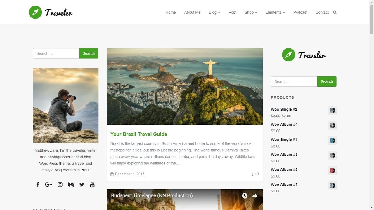 Wordpress Blog Site Builder Traveler Wordpress Theme Blog