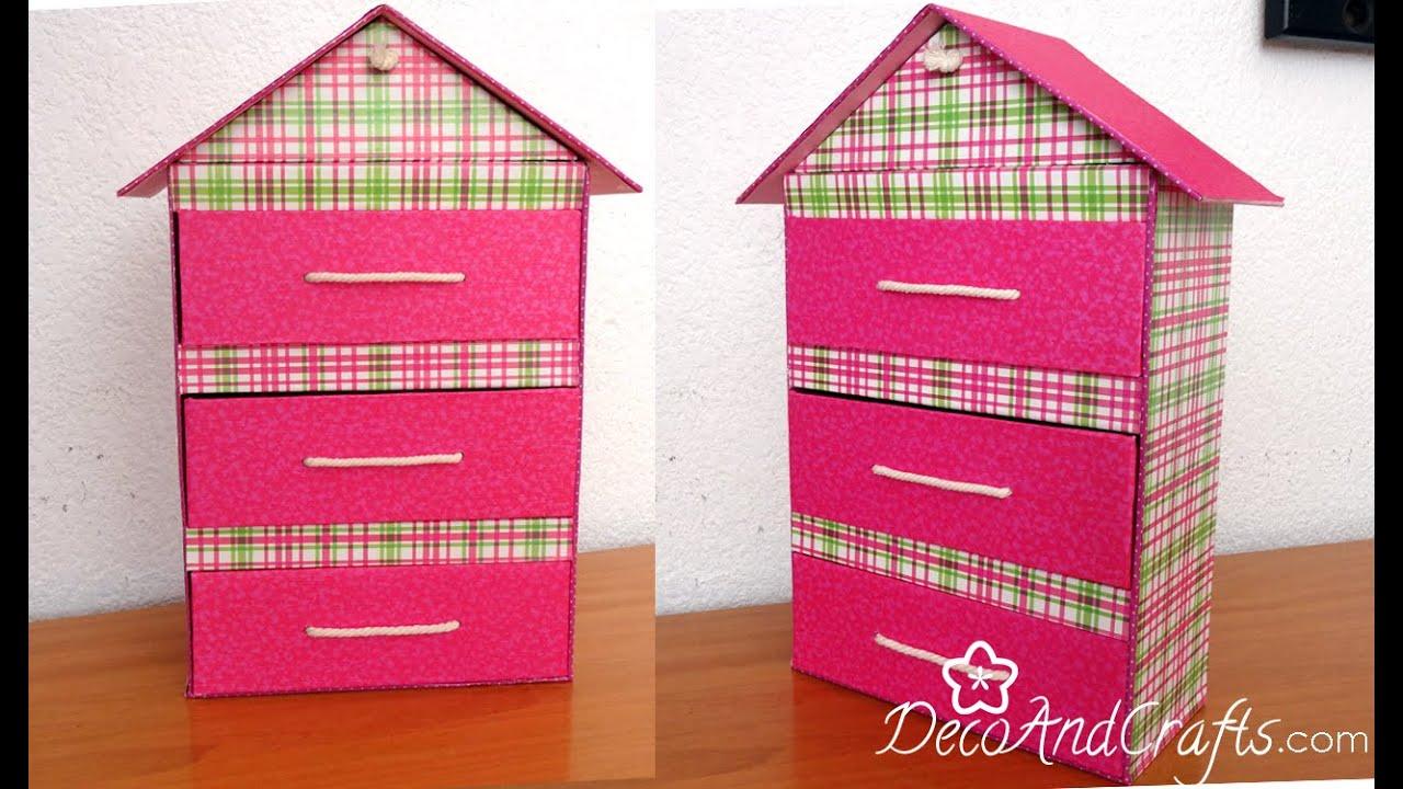 Organizador cajonera en forma de casita para tus - Accesorios para casa ...