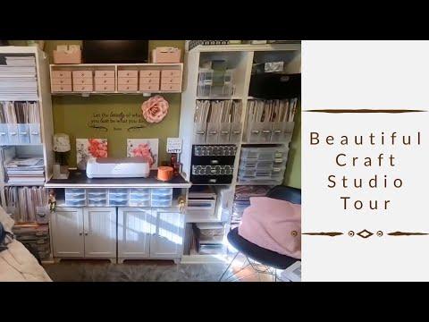 2019 Craft Room Tour. Craft Studio Tour. Craft Organization And Storage Ideas