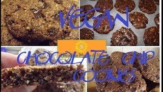 VEGAN COOKIES con gocce di cioccolato e arachidi (senza latte,uova,burro e soia)