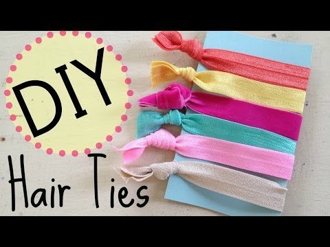 DIY Creasless Hair Ties  | No Sew | by Michele Baratta