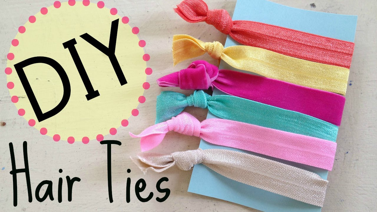 DIY Creasless Hair Ties  918ddb0d2bd