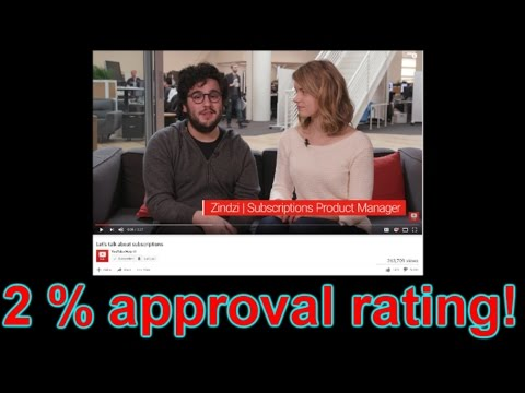 Youtubes 'subscriber bug' video hits 2% approval!