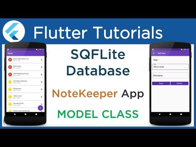 #4.6 Flutter SQFLite tutorial: Create Model Class to map SQLite Database Table