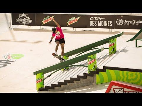 Top Tricks & Runs: Nyjah Huston Wins Dew Tour Men's Street Finals | Dew Tour Des Moines 2021