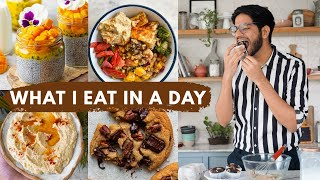 What I Eat In A Day Indian Quarantine Edition | What A Food Blogger Eats| Vegetarian Meal Ideas