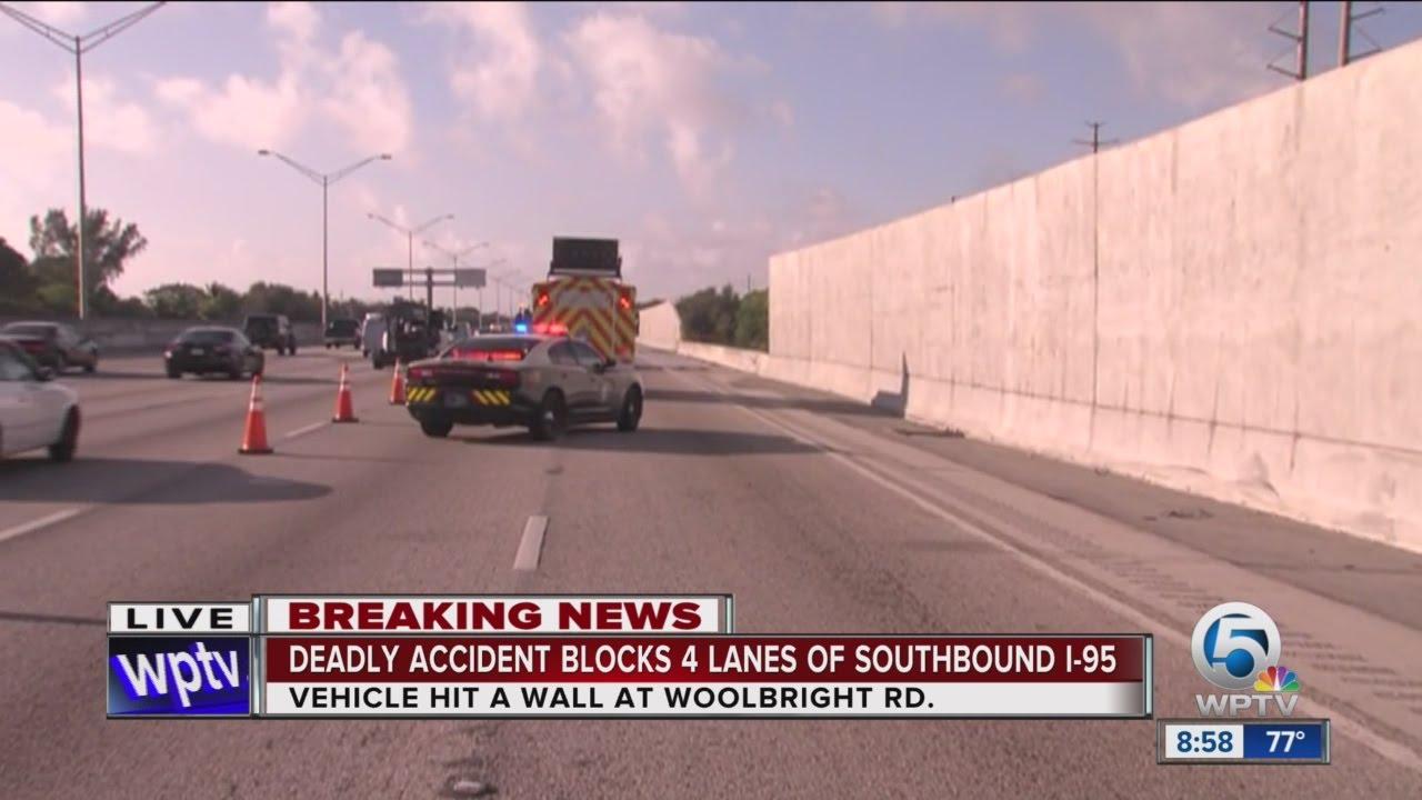1 dead, 4 hurt in I-95 southbound crash in Boynton Beach