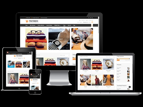 Clean Commerce Free Online Shop WordPress Theme Customization