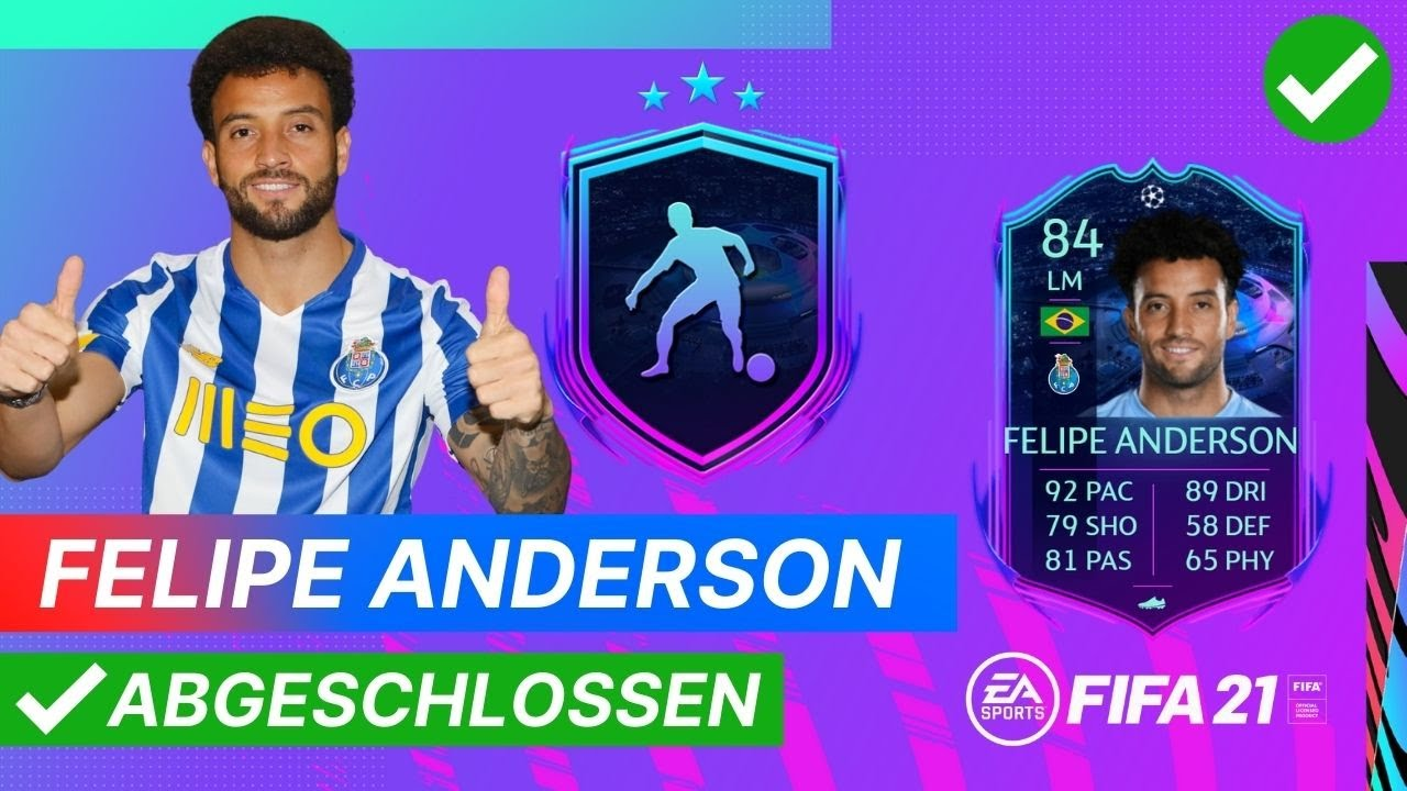 RTTF: FELIPE ANDERSON 84 🏆 Günstige SBC Lösung ohne Loyalität   FIFA 21  Ultimate Team - YouTube
