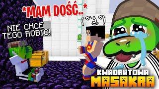 CHŁOP MNIE R҉U҉C҉H҉️ W DPE.. halo, pomocy!  (Minecraft Kwadratowa Masakra)