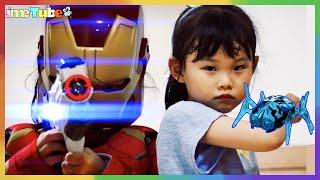 우주에서 온 파랑이의 친구! UFO 배틀버그 거미군단의 라임이 집 습격! 아이언맨 출동 | LimeTube & Toy 라임튜브 puppet show
