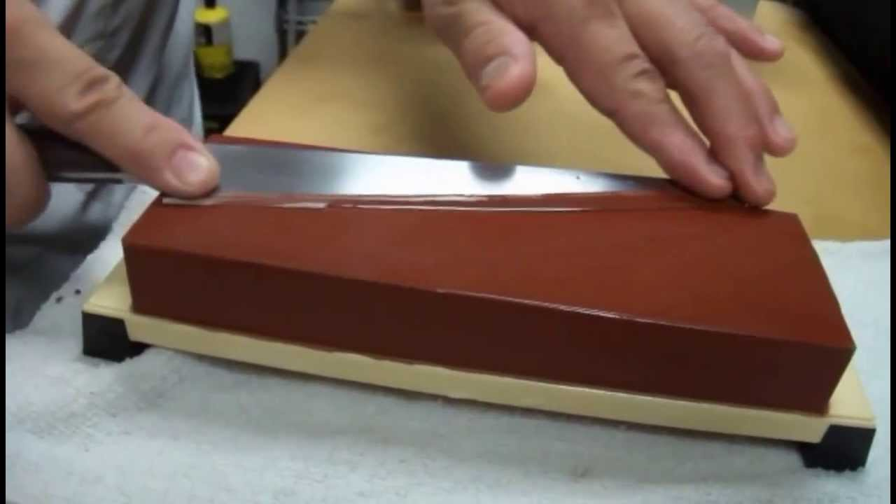 kitchen knife sharpening stone apron front sinks on a whetstone with master sushi chef hiro terada youtube