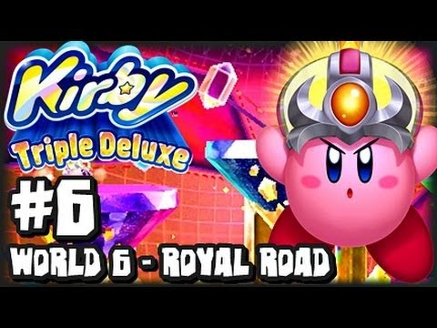 Kirby Triple Deluxe 3DS - (1080p) Part 6 - World 6 - Royal Road (1/2)