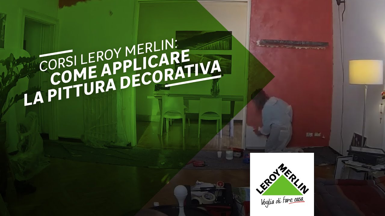 Corsi leroy merlin pittura decorativa youtube for Pittura lavabile prezzi leroy merlin