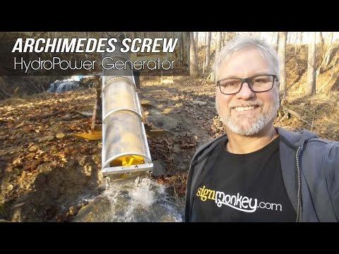 Archimedes Hydropower Screw Generator