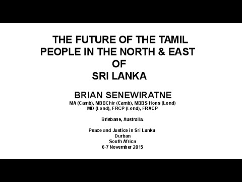 The Future  of the Tamil People in the North & East of Sri Lanka