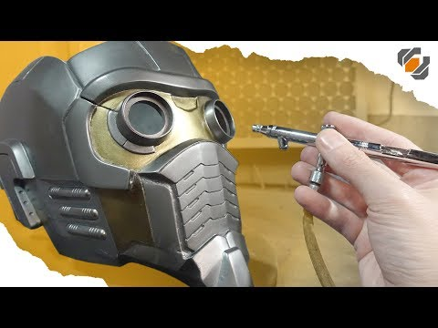 Fiberglass and Painting - Star-Lord Helmet Kit Part 2