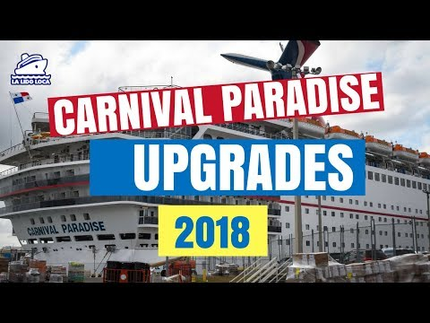 Carnival Paradise Upgrades 2018