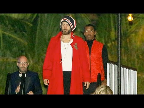 Jared Leto Dons A Red Robe At Vanity Fair Oscar After Party