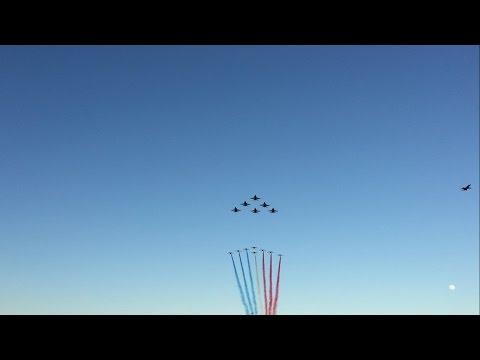 Blue Angels + Patrouille de France Flyby Pensacola Beach 2017