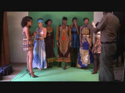 NIK/african fashion shoot--Behind the scenes at a CBB photo shoot