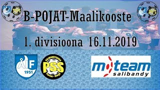 Maalikooste ÅIF/PSS - M-Team (B-pojat 1.divisioona 16.11.2019)