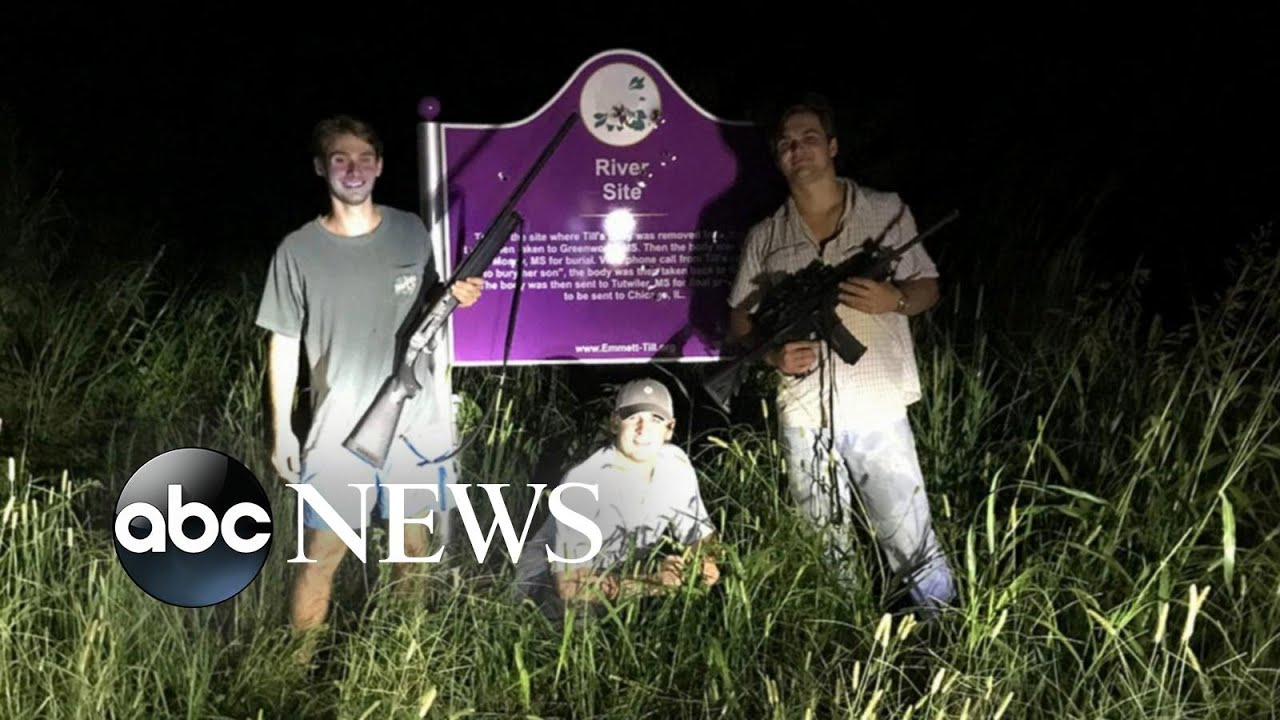 Anger spreading after fraternity poses at vandalized Emmett Till memorial