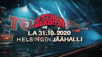 Tehosekoitin Helsingin jäähallissa 31.10.2020