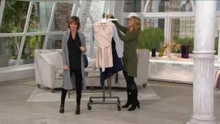 Lisa Rinna Collection Trench Coat with Knit Sleeves on QVC
