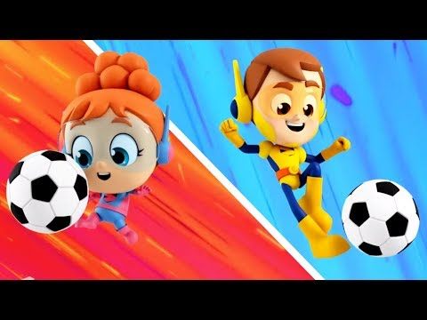 Soccer Song Superhero Nursery Rhyme Cartoon for Kids  by The Supremes