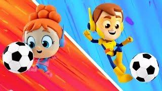 Soccer Song Superhero Nursery Rhyme Cartoon for Kids