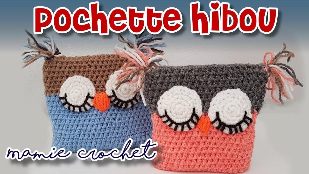 Comment Faire Une Pochette Ou Sac Chouette Hibou Facile Au Crochet Débutante Pas à Pas Tuto Diy