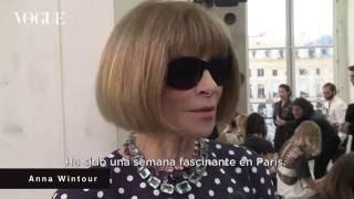 Así ha visto Anna Wintour la Semana de la Moda de París