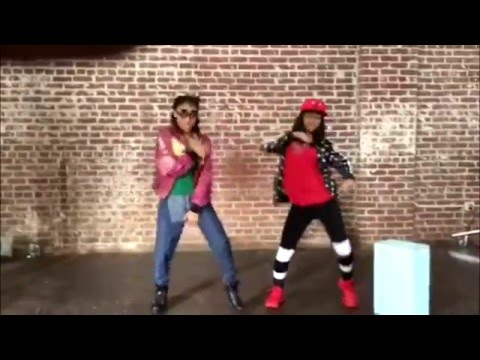 Young Lyric and Supapeach dancing at photoshoot