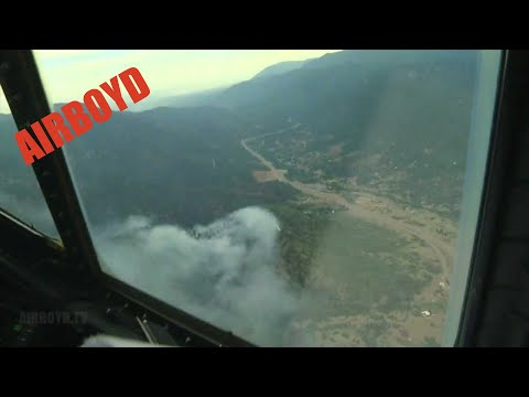 C-130 Flight Over Colorado Wildfire