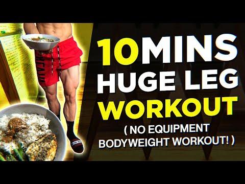 10 MIN Home Leg Workout (NO EQUIPMENT BODYWEIGHT WORKOUT!)