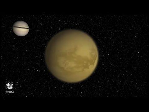 Die Monde des Saturn zur Musik von Stefan Hippe