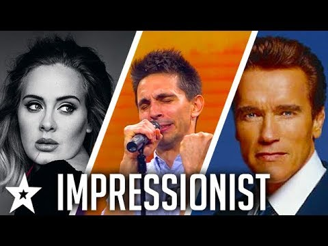 Guy Impersonates ARNIE, OBAMA, TRUMP Singing ADELE on Got Talent | Got Talent Global